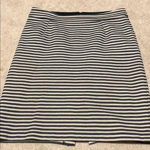 Banana Republic Black and Tan striped skirt